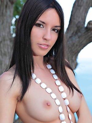 Exquisite nude brunette